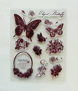 Pomôcky/Nástroje - Silikónové razítka, pečiatky - 14x18 cm - motýľ, ornament, butterfly - 6456246_