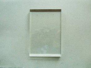 Pomôcky/Nástroje - Priehľadný akrylový blok - 10x15x1 cm - 6456363_