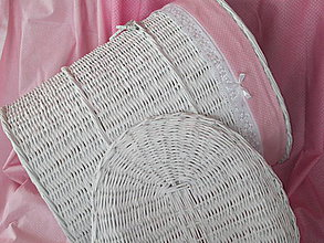 Košíky - Kôš oválny- jemne ružový - 6455145_