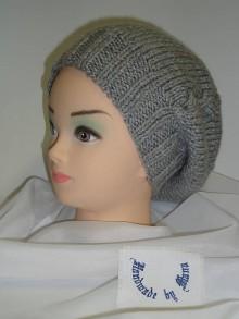 Detské čiapky - Pletená čiapka / baretka / - 6458240_