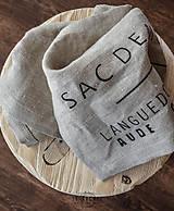 Úžitkový textil - ľanové utierky sivé, set 2 ks - 6454586_