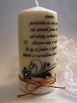 Svietidlá a sviečky - Vintage štýl sviečka - kvietkový ornament - 6454337_