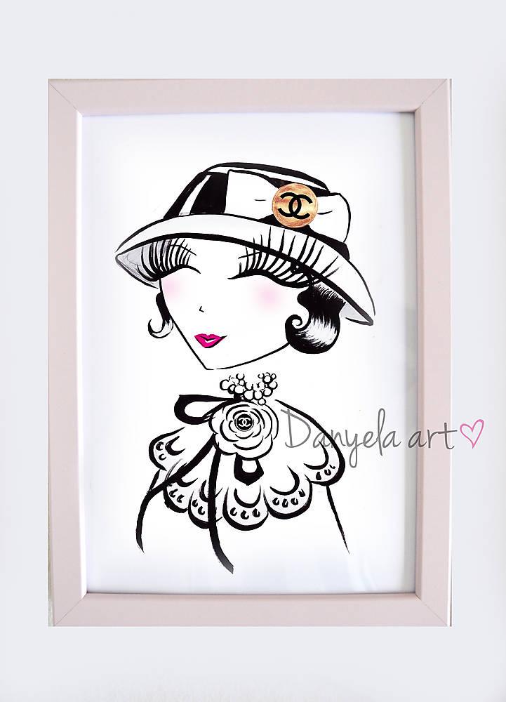 Coco Chanel Lolli Framed Print Danyela Sashesk Handmade Obrazy