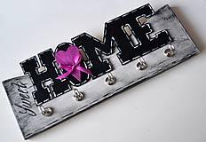 Tabuľky - drevený vešiak na kľúče- Home - 6454044_