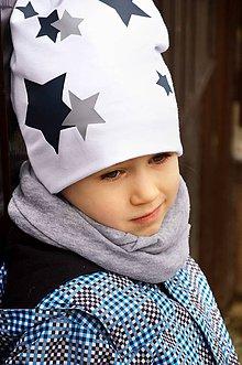 Detské čiapky - Bavlnená čiapka hviezdy - 6458440_