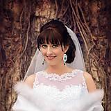 Náušnice - Svadobné náušnice - Tyrkysová svadba - 6454360_