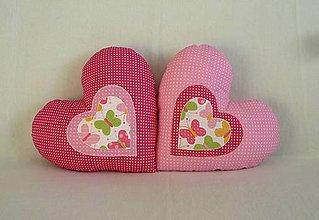 Textil - Vankúšik srdiečko do ružova č.1 - 6456597_