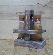 Dekorácie - Stojan na solničku,koreničky - 6456530_