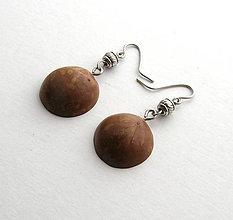 Náušnice - Makadamové škrupinky 3 - 6457600_