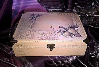Krabičky - šperkovnica  -ruže - 6454321_