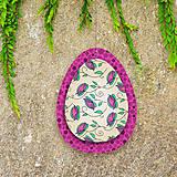 Dekorácie - Veľkonočné vajíčka z papiera - 6457606_