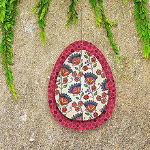 Dekorácie - Veľkonočné vajíčko z papiera kvietkové 1 - 6457525_