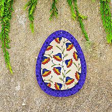 Dekorácie - Veľkonočné vajíčko z papiera kvietkové 2 - 6457539_