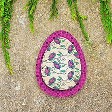 Dekorácie - Veľkonočné vajíčko z papiera kvietkové 4 - 6457606_