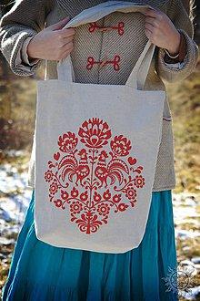Nákupné tašky - Taška Kohútiky, ručne maľovaná - 6461539_