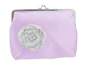 Taštičky - Svadobná kabelka fialová , kabelka pre nevestu 1485 - 6463160_