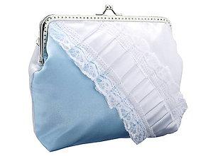Taštičky - Svadobná kabelka modrá, kabelka pre nevestu  1486-01 - 6463177_