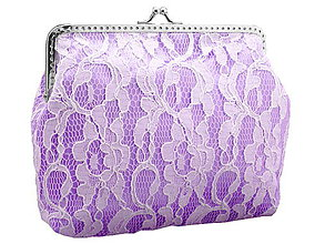 Taštičky - Svadobná čipková kabelka fialová , kabelka pre nevestu  04151 - 6463254_