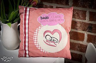 Úžitkový textil - Vankúšik pre novorodenca - 6462593_