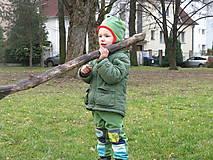 Detské oblečenie - softshellové nohavice  Hroch - 6460572_