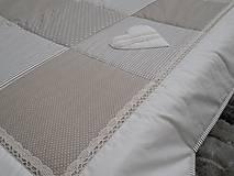 vintage prehoz na posteľ s krajkou 220x220cm