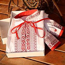 Oblečenie - Folk košeľa červená - 6458853_