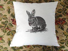 Úžitkový textil - Vankúšik + obliečka so zajačikom - 6459134_
