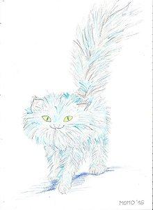 Detské doplnky - Mačička perzská -- pastel - 6461833_