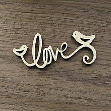 Polotovary - V-01-012 Love s vtáčikami - 6462061_