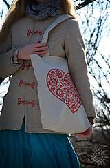 Nákupné tašky - Taška Srdiečko, ručne maľovaná - 6462343_
