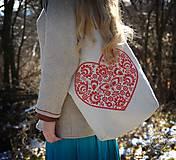 Nákupné tašky - Taška Srdiečko, ručne maľovaná - 6462344_