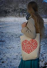 Nákupné tašky - Taška Srdiečko, ručne maľovaná - 6462345_