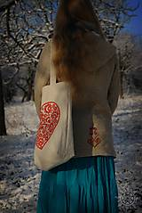 Nákupné tašky - Taška Srdiečko, ručne maľovaná - 6462346_