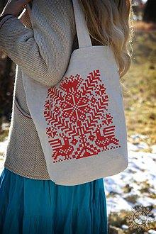 Nákupné tašky - Taška Strom života červený - 6462438_