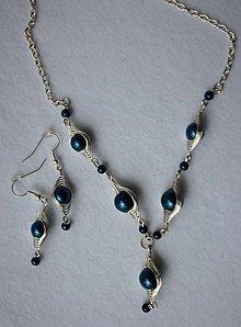 Sady šperkov - Modrá perličková sada - 6462025_