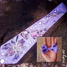 Doplnky - Tato a syn- set hodvábna kravata a motýlik - 6460321_