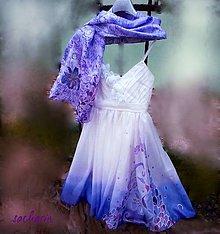Šaty - Maľba na svadobných šatách -Kosatec - 6460479_