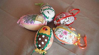 Dekorácie - veľkonočné vajíčka-falošný patchwork - 6459960_