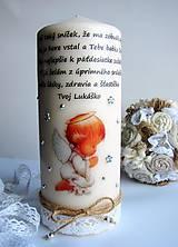 Svietidlá a sviečky - Vintage štýl sviečka - anjelik - 6462447_