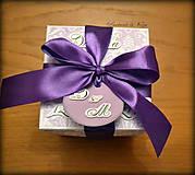Papiernictvo - Krabička na peniaze Kráľovská fialová - 6459807_