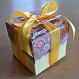 Papiernictvo - Krabička na peniaze Žltá jeseň - 6459900_