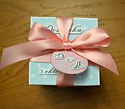 Papiernictvo - Krabička na peniaze Modrý cukrík - 6460704_