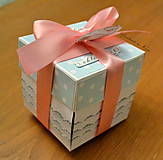 Papiernictvo - Krabička na peniaze Modrý cukrík - 6460706_