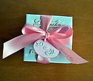 Papiernictvo - Krabička na peniaze Modrý cukrík - 6460709_