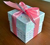Papiernictvo - Krabička na peniaze Modrý cukrík - 6460711_