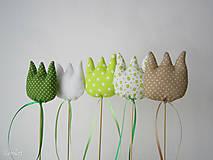 Dekorácie - Tulipány - zelený mix - 6459911_