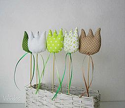 Dekorácie - Tulipány - zelený mix - 6459910_