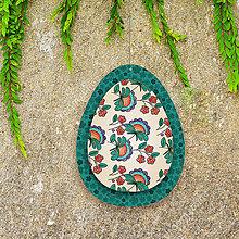 Dekorácie - Veľkonočné vajíčko z papiera kvietkové 5 - 6458687_