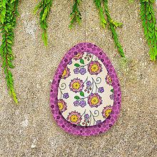 Dekorácie - Veľkonočné vajíčko z papiera kvietkové 7 - 6458689_