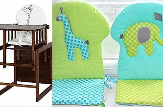 Textil - Podsedák na detskú jedálenskú stoličku - 6468003_